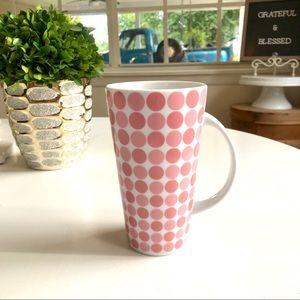 Large Pink Polka Dotted Coffee Mug ☕️